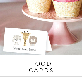 Food Display Folded Cards